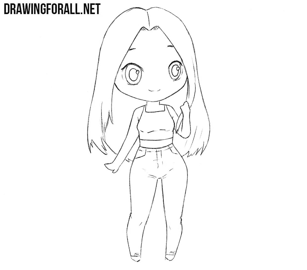 Chibi Girl Drawings Step By Step