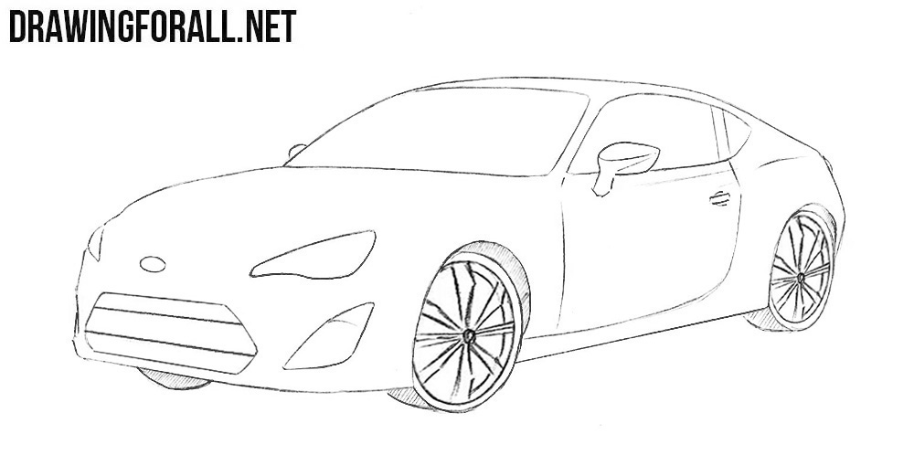 subaru brz drawing