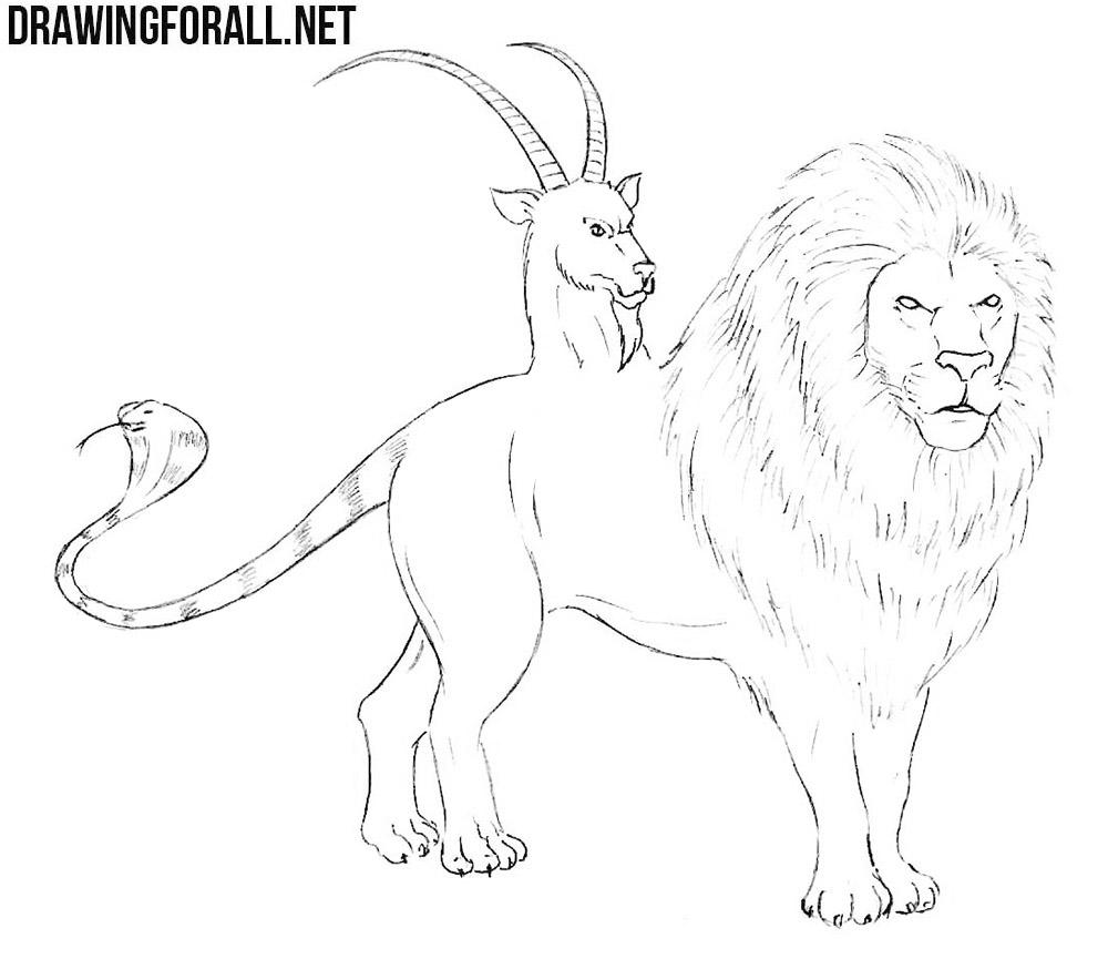 How To Draw A Chimera Drawingforallnet