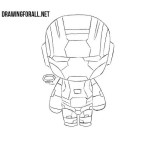 How to Draw War Machine Chibi