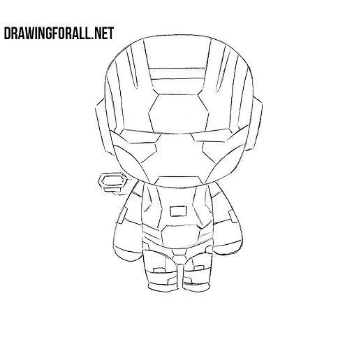 How to Draw War Machine Chibi