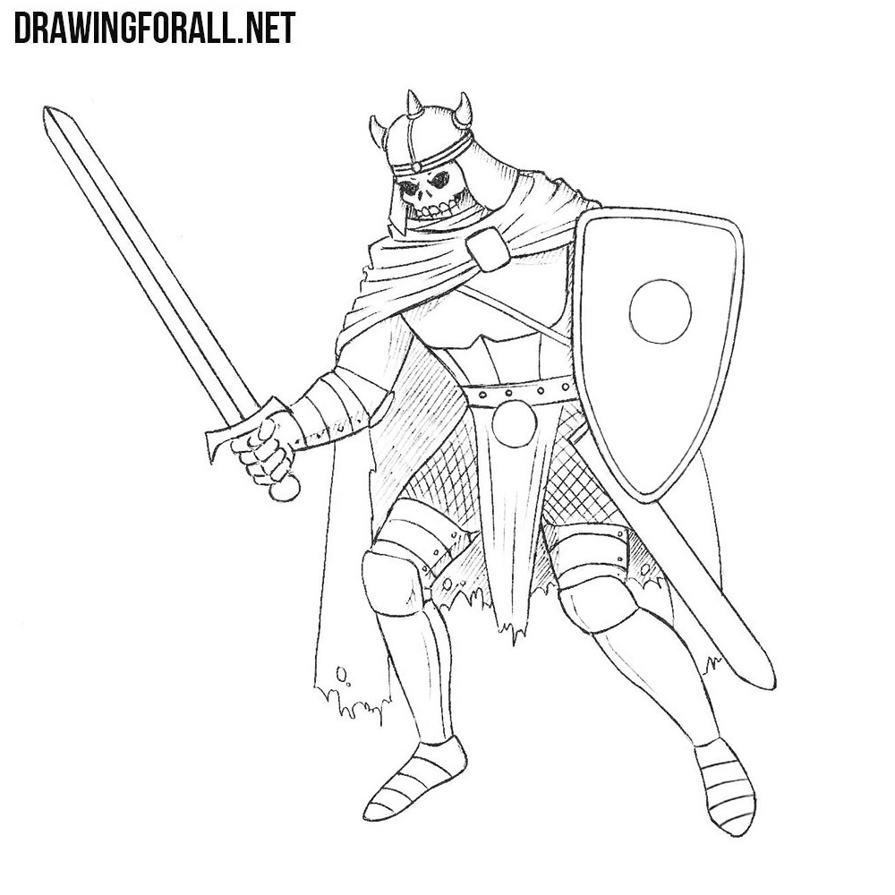 How to Draw a Death Knight | DrawingForAll.net