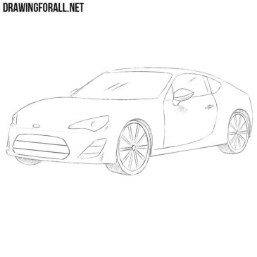 How to Draw a Toyota GT86