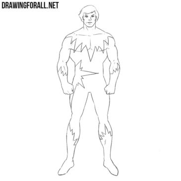 How to Draw North Star from Marvel