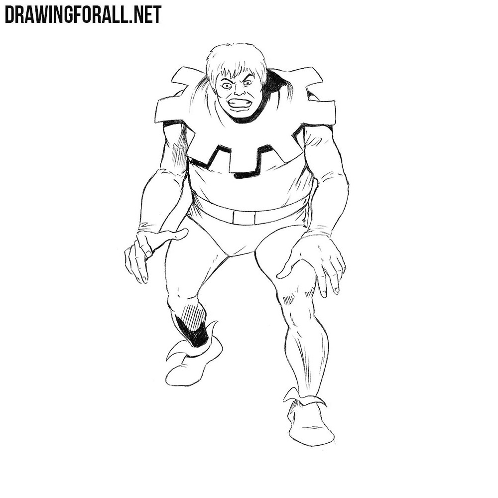 How to Draw Toad from Marvel