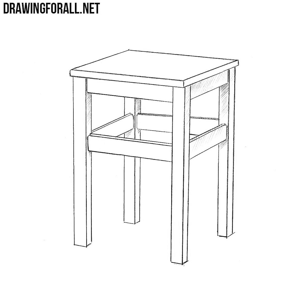 How To Draw A Stool Step By Step Drawingforall Net