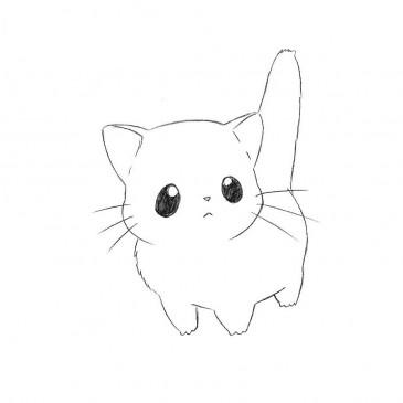 Chibi Anime Cat Drawing How to draw Chibi Cat ...