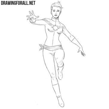 How to Draw Captain Marvel from Marvel