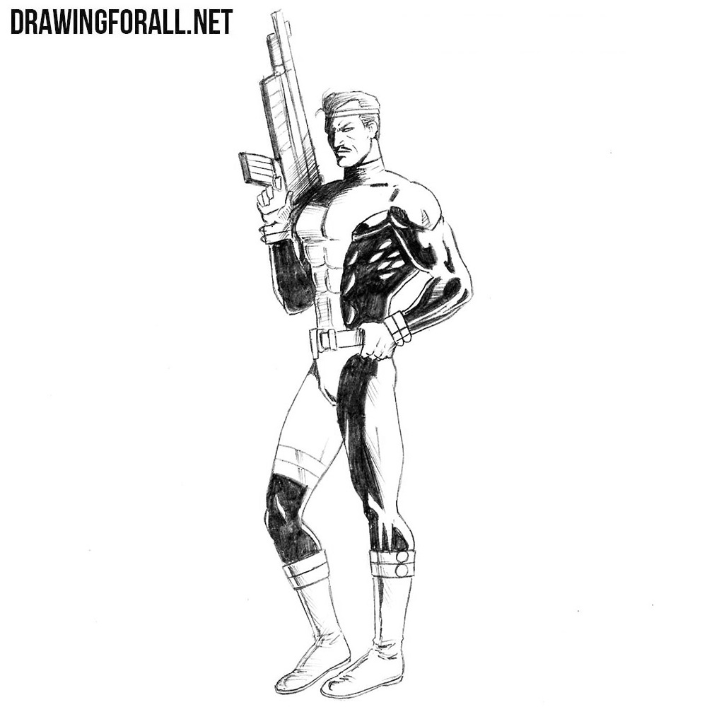 How to Draw Forge from Marvel