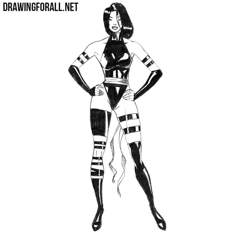 How to Draw Psylocke
