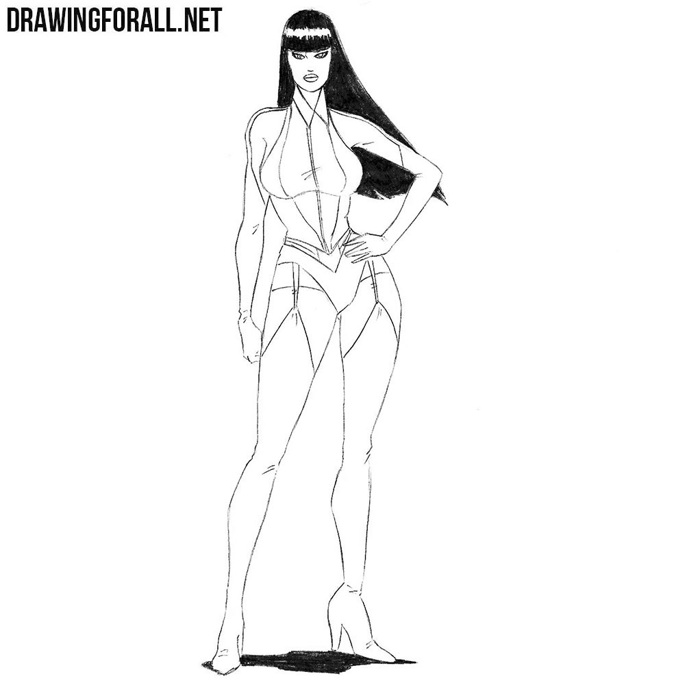 How to Draw Silk Spectre