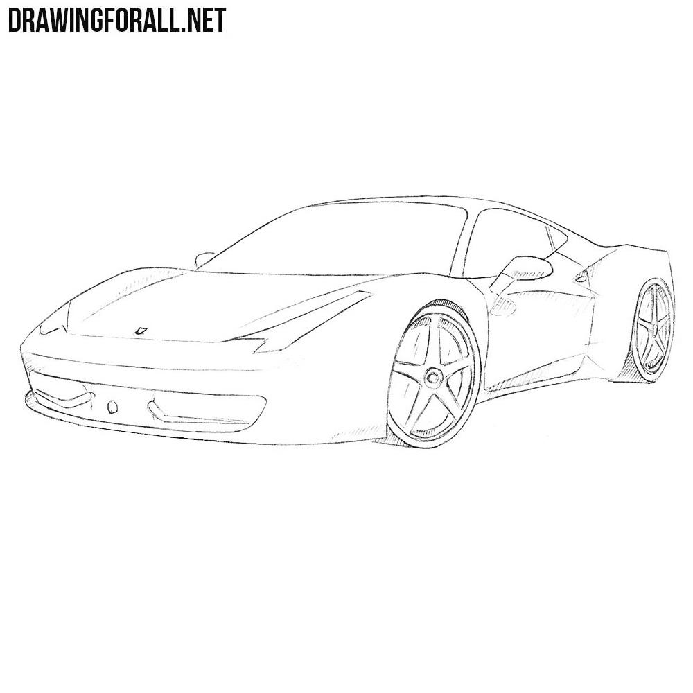 How to Draw a Ferrari 458 Italia