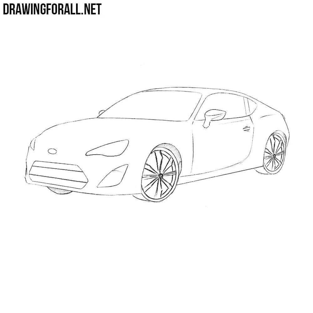 How to Draw a Subaru BRZ