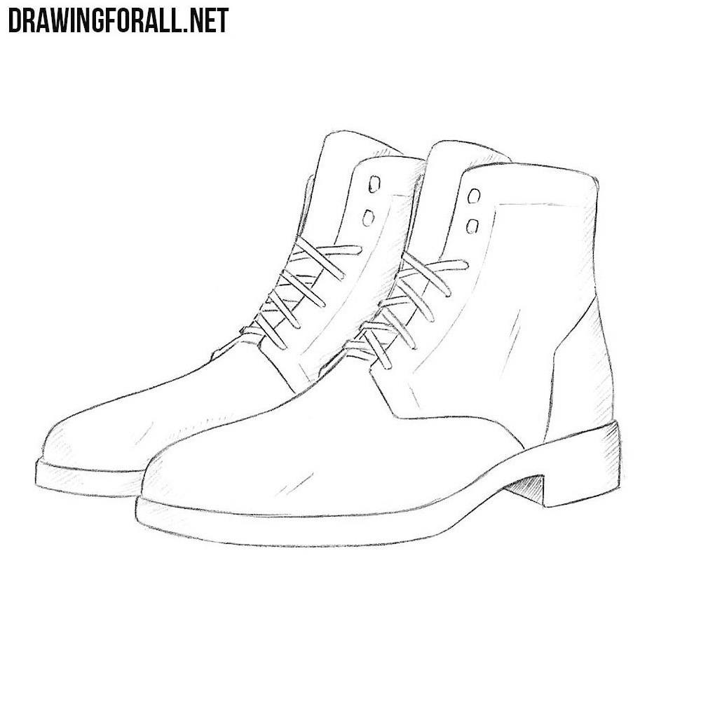 How to draw boots 29