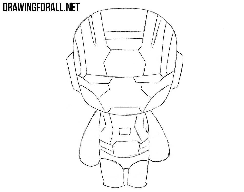 how to draw marvel chibi