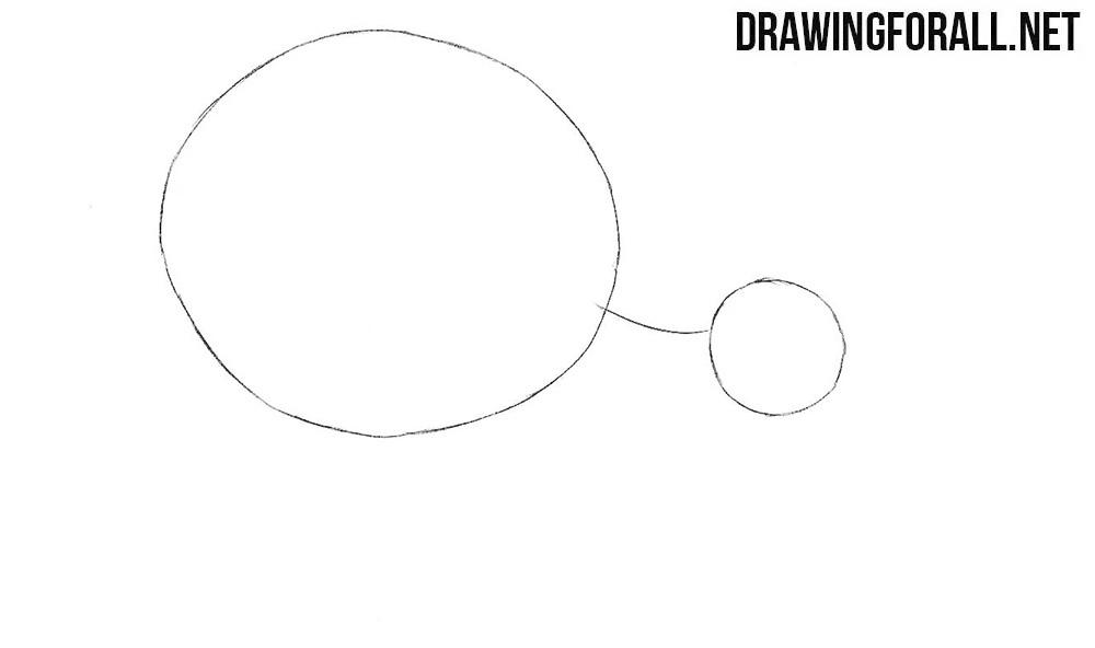 How to draw a kiwi bird