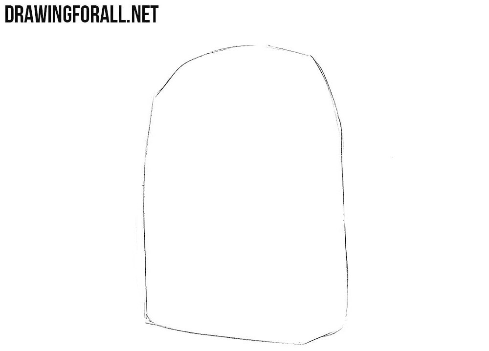 1 How to draw a schoolbag
