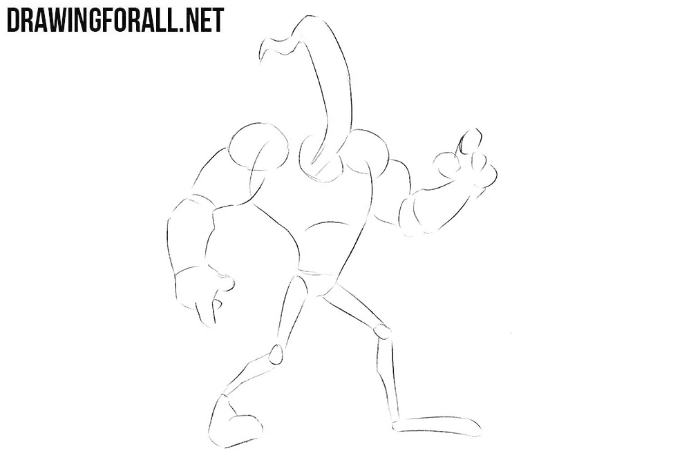 Earthworm Jim drawing tutorial