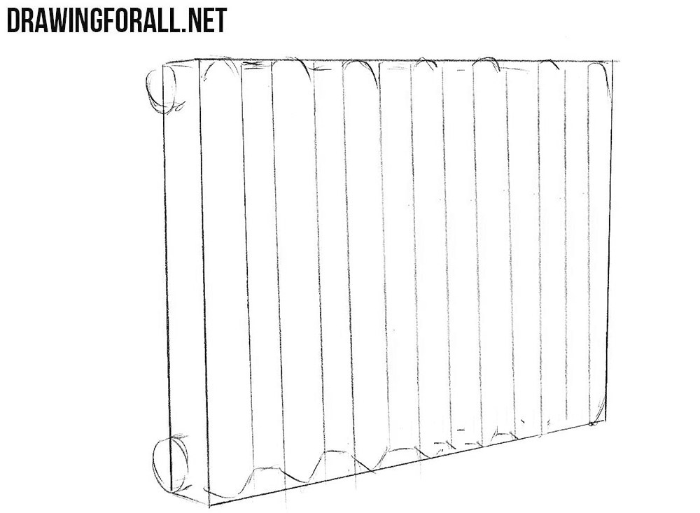 How to draw a Heating Radiator step by step