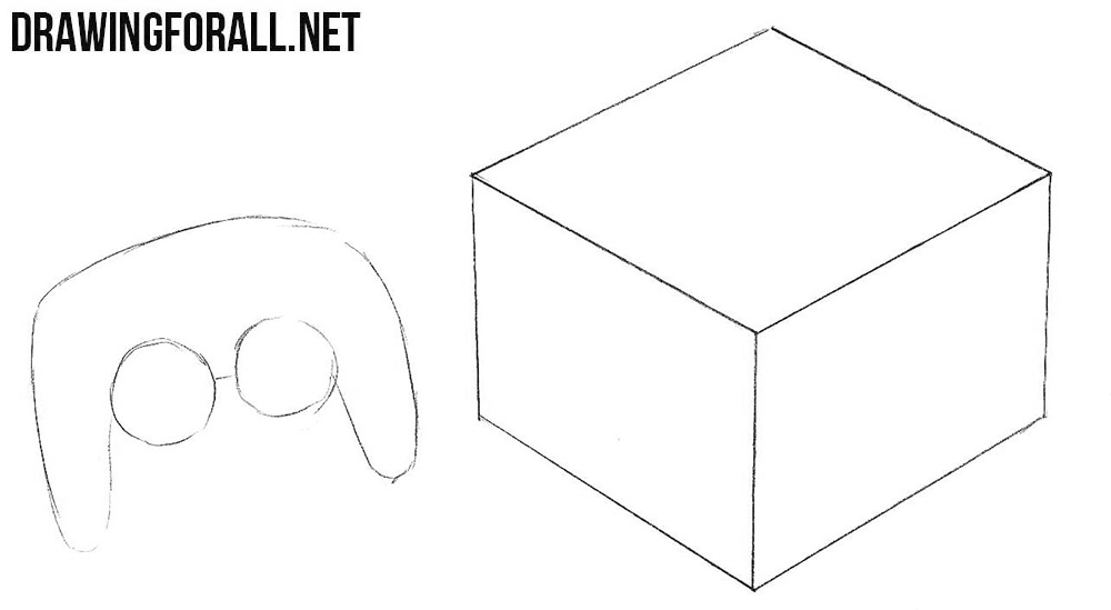How to draw a Nintendo GameCube step by step