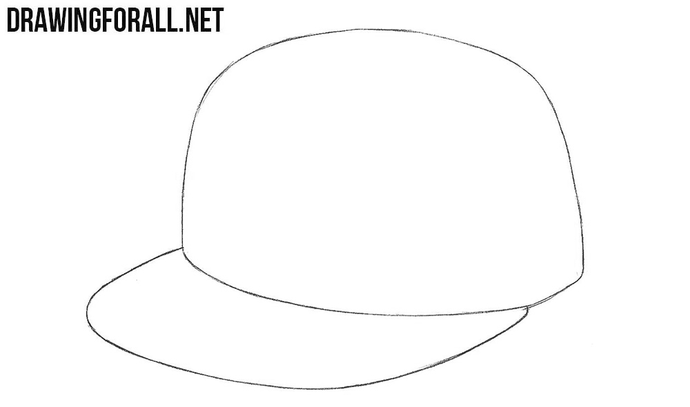 How to draw a baseball cap step by step