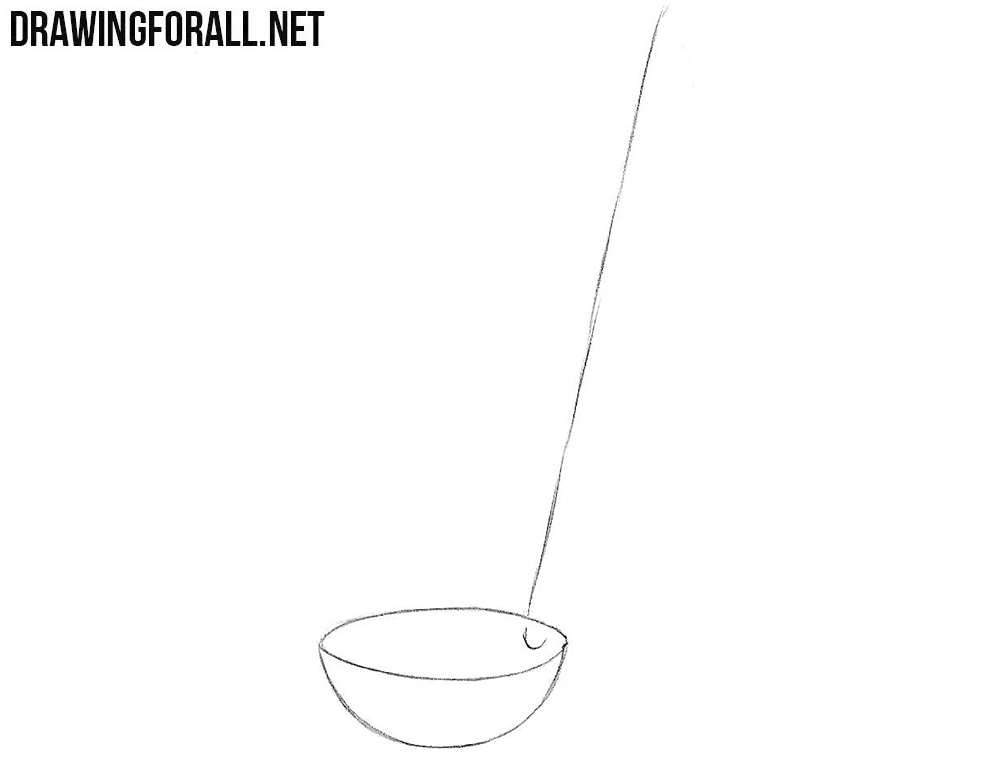 How to draw a ladle step by step