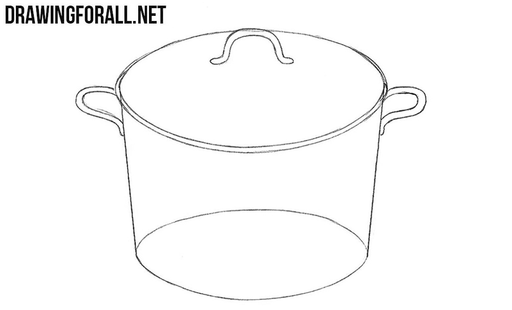 2 How to draw a saucepan step by step