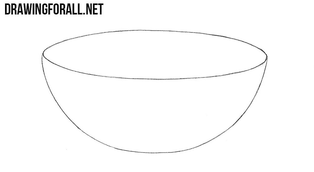 How To Draw A Bowl Drawingforall Net