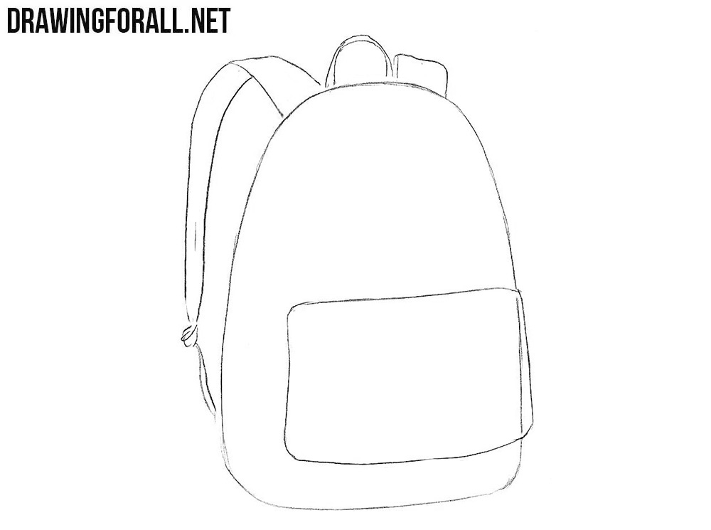 Learn how to draw a backpack step by step