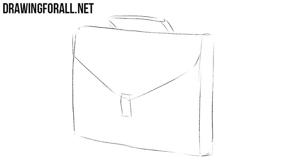 Learn how to draw a briefcase