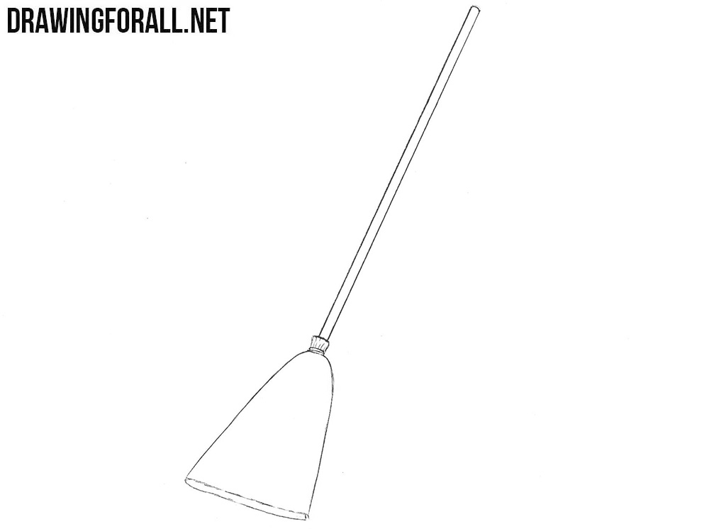 Learn how to draw a broom step by step