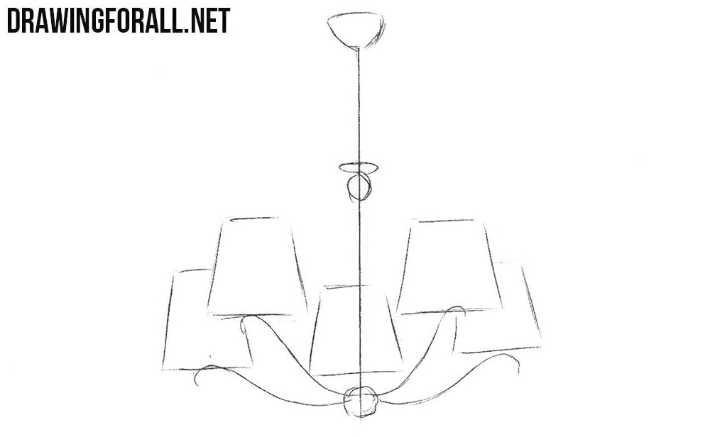 Learn How To Draw A Chandelier Step By