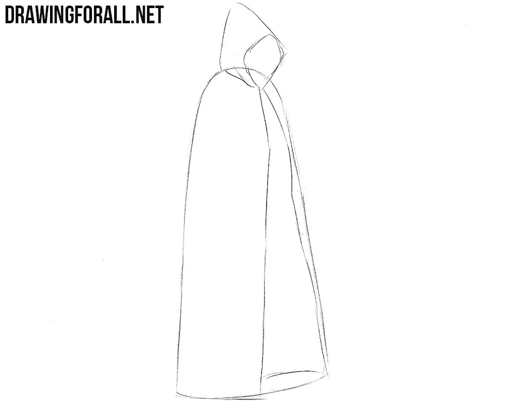 Learn how to draw a cloak