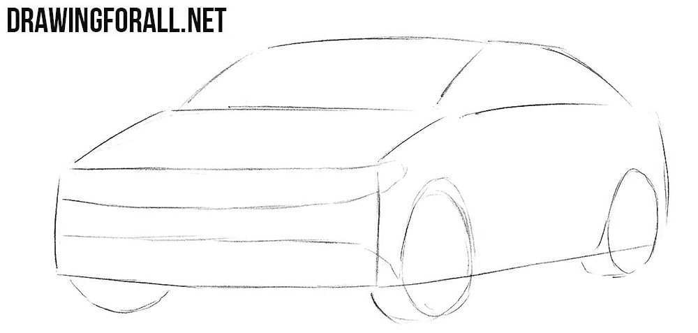Learn to draw a Volkswagen Passat CC