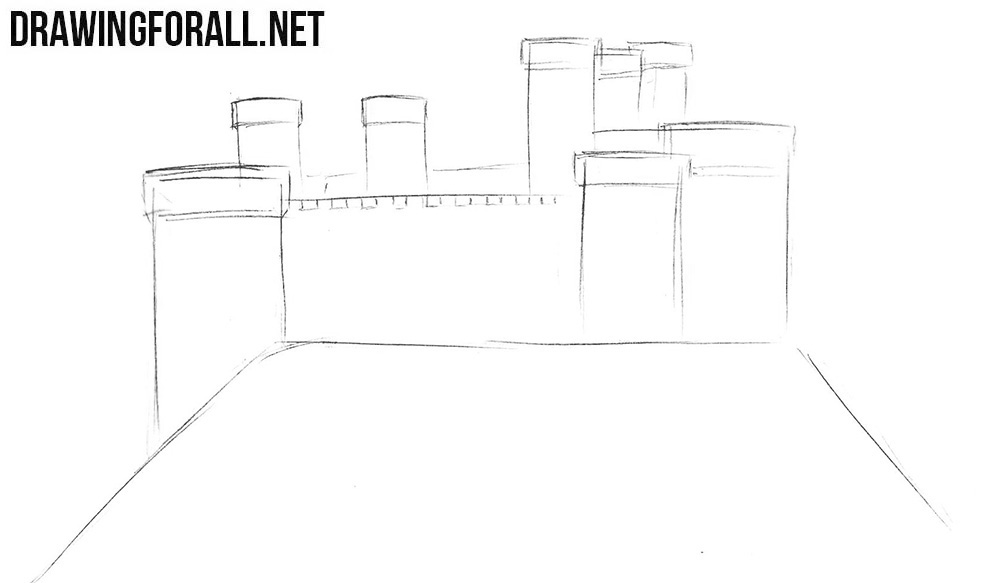 Learn to draw a castle