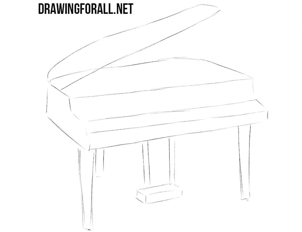 Learn to draw a piano