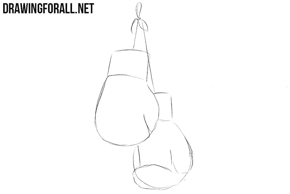 Learn to draw boxing gloves