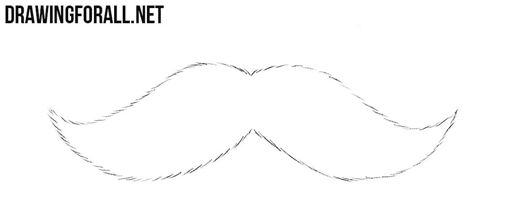 Mustache drawing