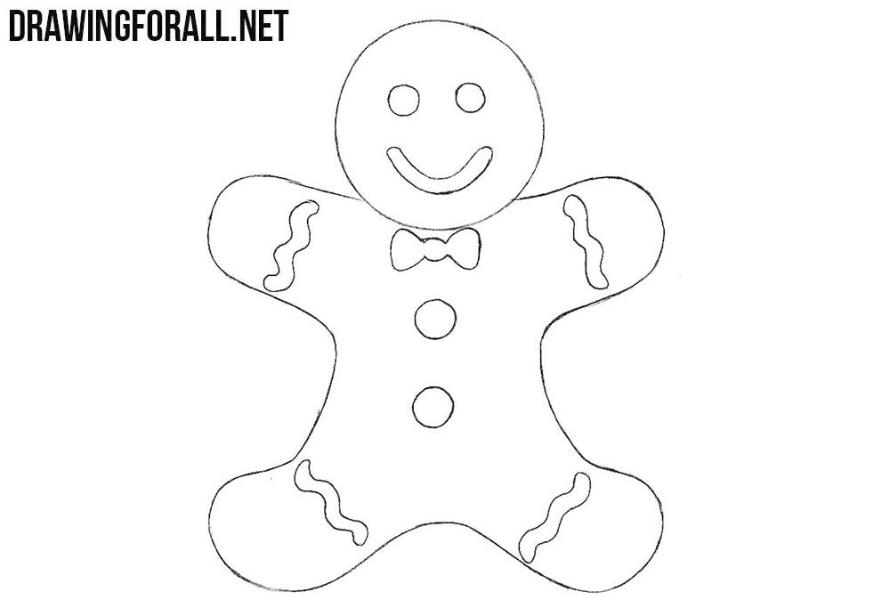 gingerbread man drawing tutorial