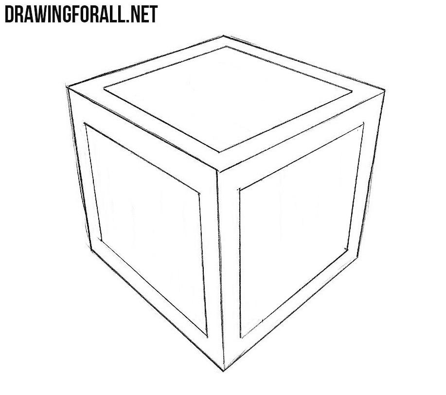 how to sketch a box