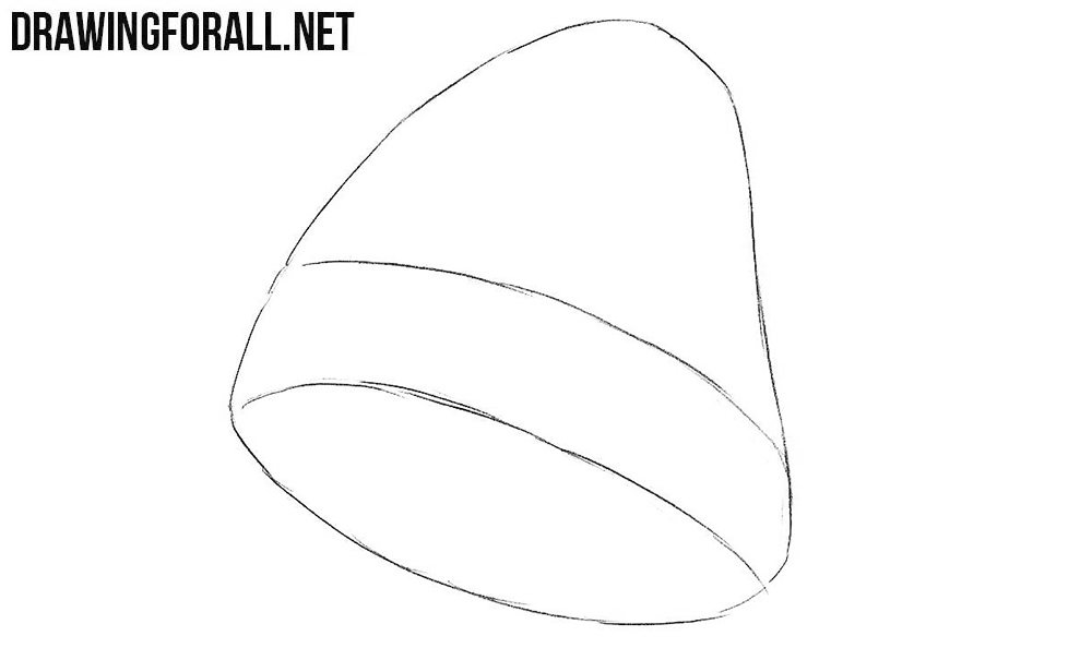 learn how to draw a knit cap step by step
