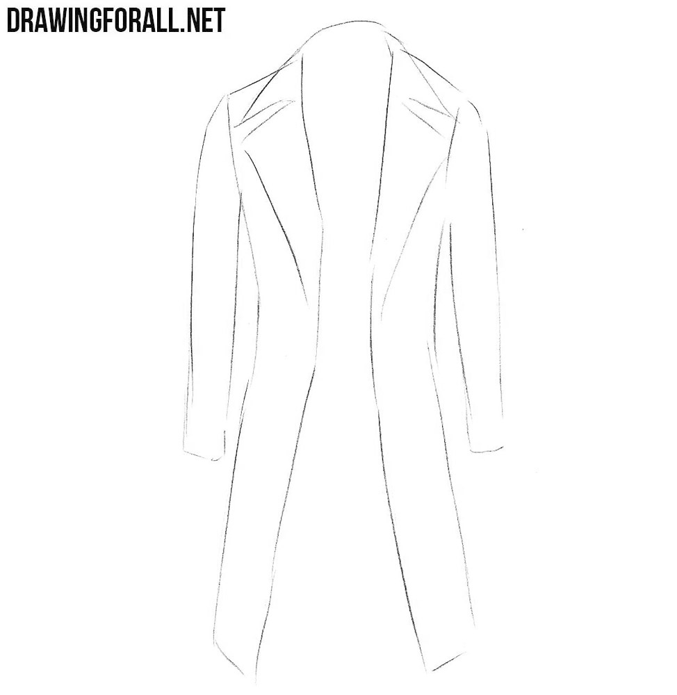learn to draw a coat
