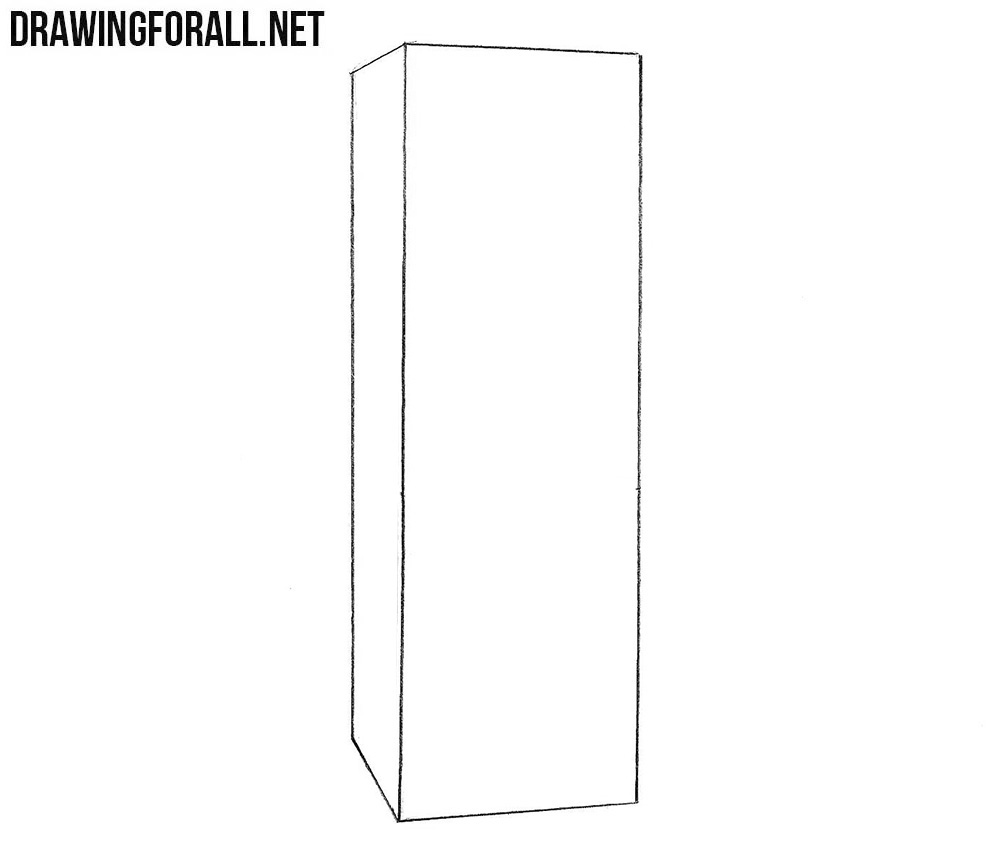 learn to draw a refrigerator step by step