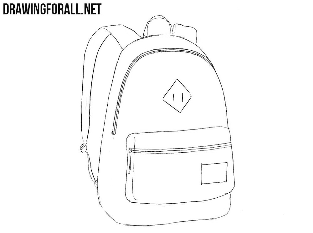 Backpack drawing tutorial