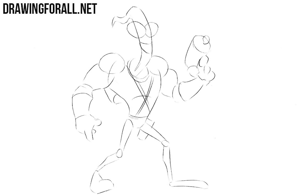 How to draw Earthworm Jim