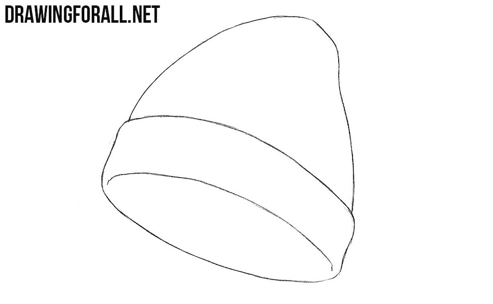 How to draw a knit hat step by step