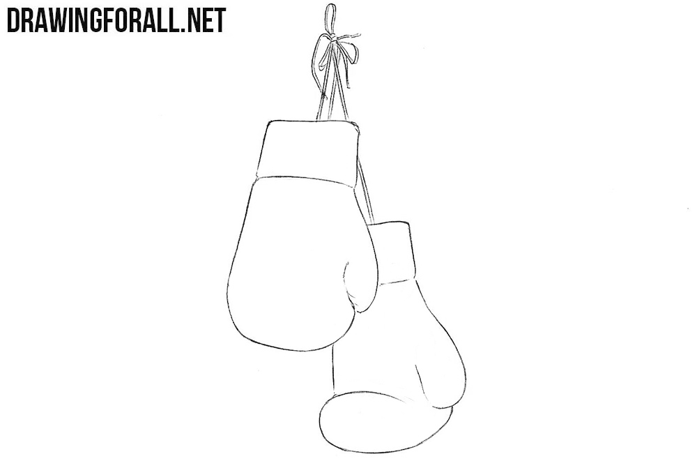 How to draw gloves for boxing