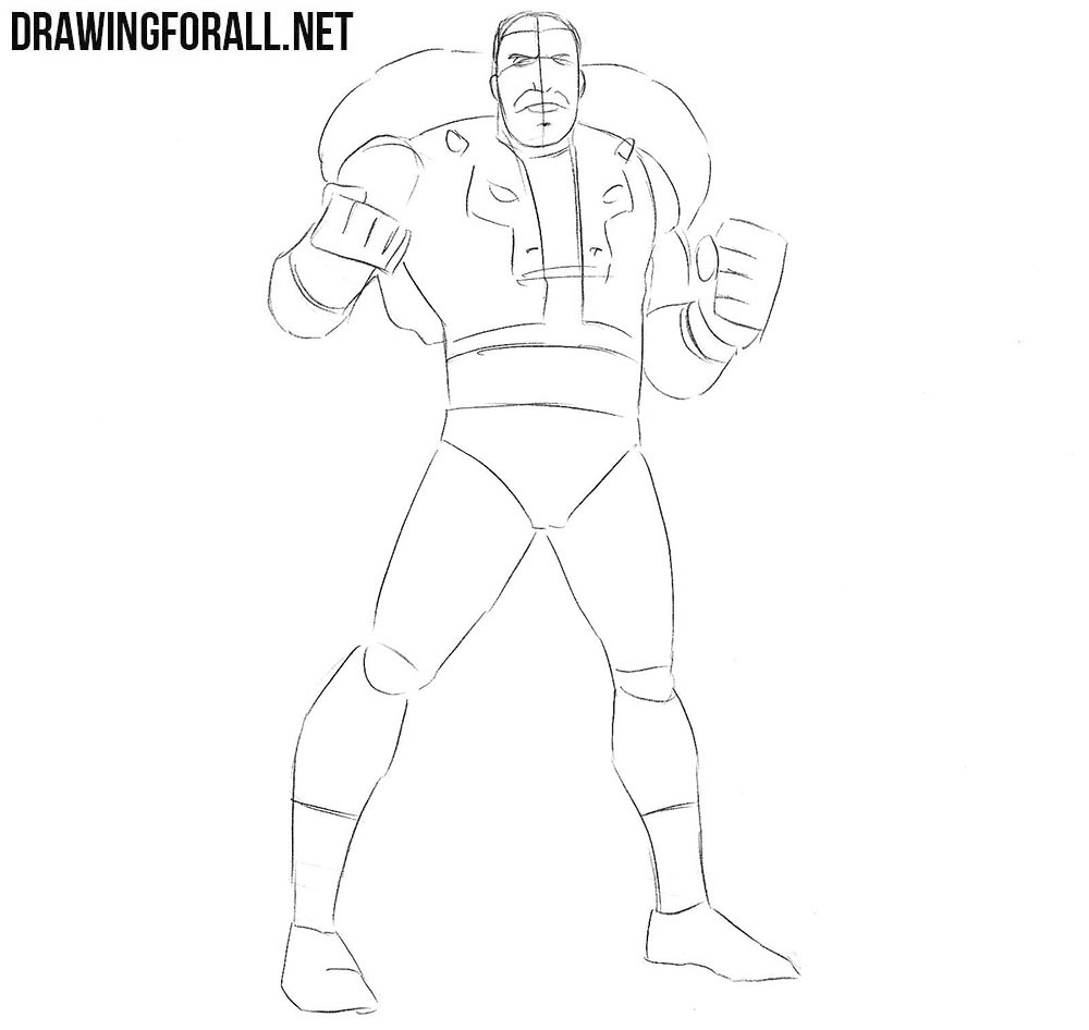 How to sketcg Kraven the Hunter