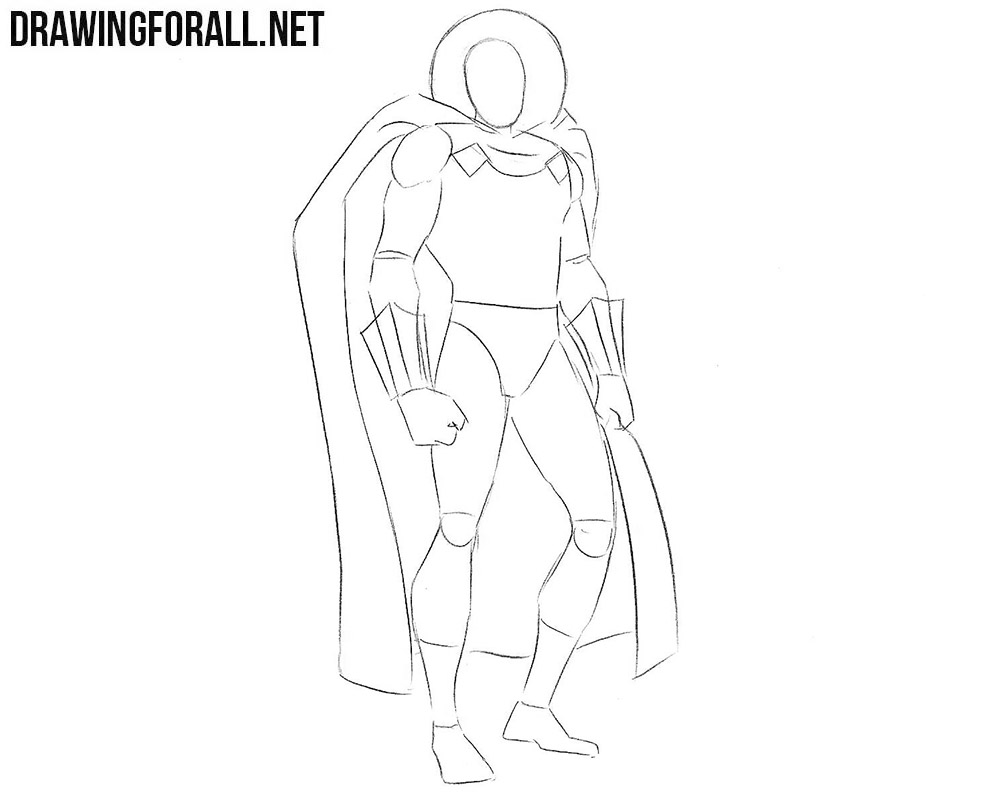 How to sketch Mysterio step by step