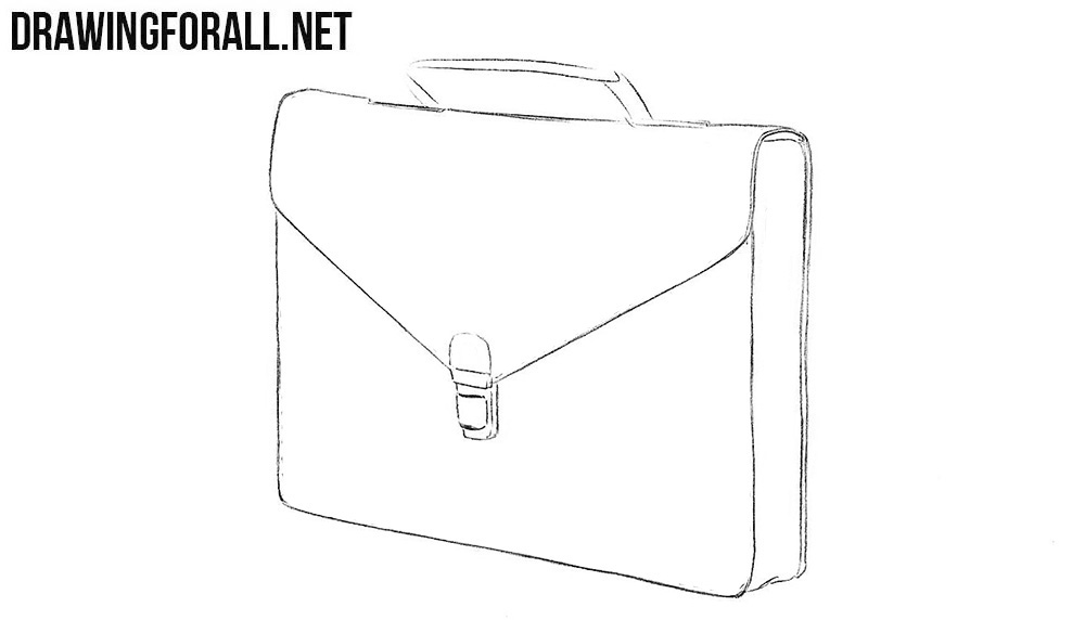 How to sketch a briefcase step by step
